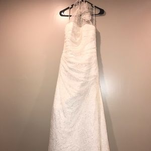Augusta Jones size 12 beaded lace wedding dress